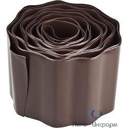 GRINDA Лента бордюрная, цвет коричневый, 20см х 9 м [422247-20]