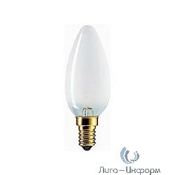 011763 Лампа накаливания Philips B35 60W E14 230V свеча FR