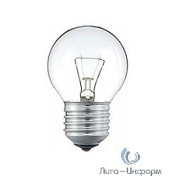 011886 Лампа накаливания Philips P45 40W E27 230V шарик CL
