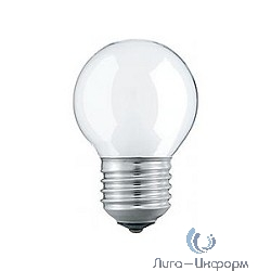 033215 Лампа накаливания Philips P45 60W E27 230V шарик FR