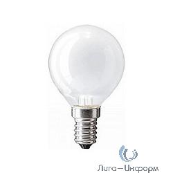 067579 Лампа накаливания Philips P45 60W E14 230V шарик FR