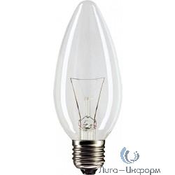 854886 Лампа накаливания Philips B35 60W E27 230V свеча CL