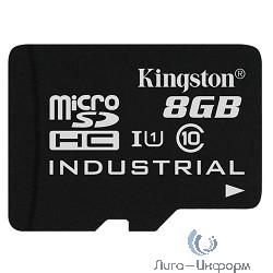 Micro SecureDigital 8Gb Kingston SDCIT/8GB {MicroSDHC Class 10, U1 Industrial, SD adapter}