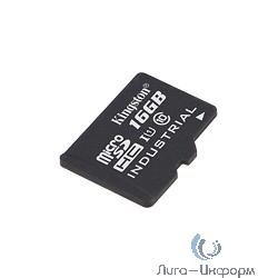 Micro SecureDigital 16Gb Kingston SDCIT/16GB {MicroSDHC Class 10, U1 Industrial, SD adapter}