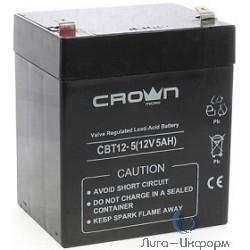 Crown Аккумулятор CBT-12-5 (12V, 5Ah)