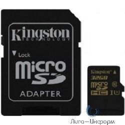 Micro SecureDigital 32Gb Kingston SDCG/32GB {MicroSDHC Class 10, UHS-I U3, SD adapter}