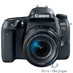 "Canon EOS 77D черный {24.2Mpix EF-S 18-55mm f/3.5-5.6 IS STM 3"" 1080p Full HD SDXC Li-ion}"