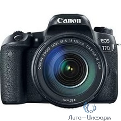 "Canon EOS 77D черный {24.2Mpix EF-S 18-135mm f/3.5-5.6 IS USM 3"" 1080p Full HD SDXC Li-ion}"