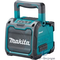 Makita DMR200 Аудиопроигрыватель ак,{10.8-18В,Li-ion,2.8кг,порт USB, Bluetooth,вход AUX,б\проводной}