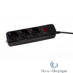 3Cott Сетевой фильтр 3Cott 3C-SP1003B-3.0(К) (3 евро-розеток с заземлением, 3 м, черный, коробка) {0480853}