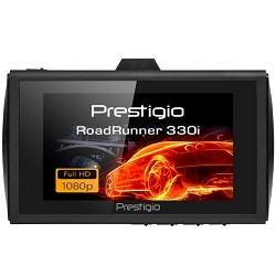 Car Video Recorder PRESTIGIO RoadRunner 330i (FHD 1920x1080@25fps (interpolated), 3.0& apos; & apos; screen, NT96223, 1 MP CMOS GC1024 image sensor, 12 MP camera, 120° Viewing Angle, Mini USB, 4x zoom, 200 mAh, Mo