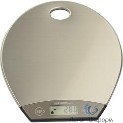FIRST FA-6403-1 Весы кухонные, электронные, сталь, 5 кг, серый