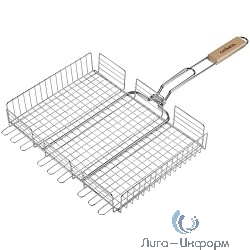 """GRINDA Решетка-гриль """"BARBECUE"""", объемная, нержавеющая сталь, 340х260мм [424732]"""