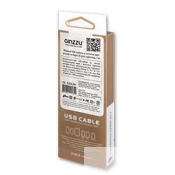 Ginzzu data-кабель USB для iPhone 5/<wbr>6, белый, 1,0м (GC-555UW)