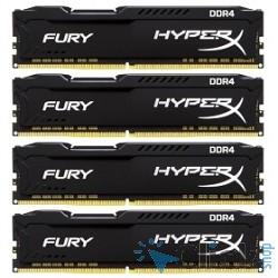 Kingston DDR4 DIMM 64GB Kit 4x16Gb HX426C16FBK4/64 PC4-21300, 2666MHz, CL16, HyperX Fury Black