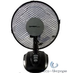 """FIRST (FA-5550-BA) Вентилятор настольный Мощность  25 Вт.Диаметр 9"""""""" / 23 см."""