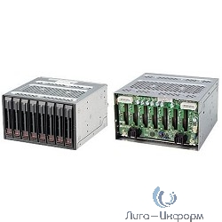 "Cage SuperMicro CSE-M28SACB - Mobile Rack in 2x5.25"" for 8x2.5"" HDD Hot-swap SAS3(12Gbps)/SATA"