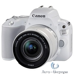 "Canon EOS 200D белый {24.2Mpix EF-S 18-55mm f/3.5-5.6 IS STM 3"" 1080p Full HD SDXC Li-ion}"