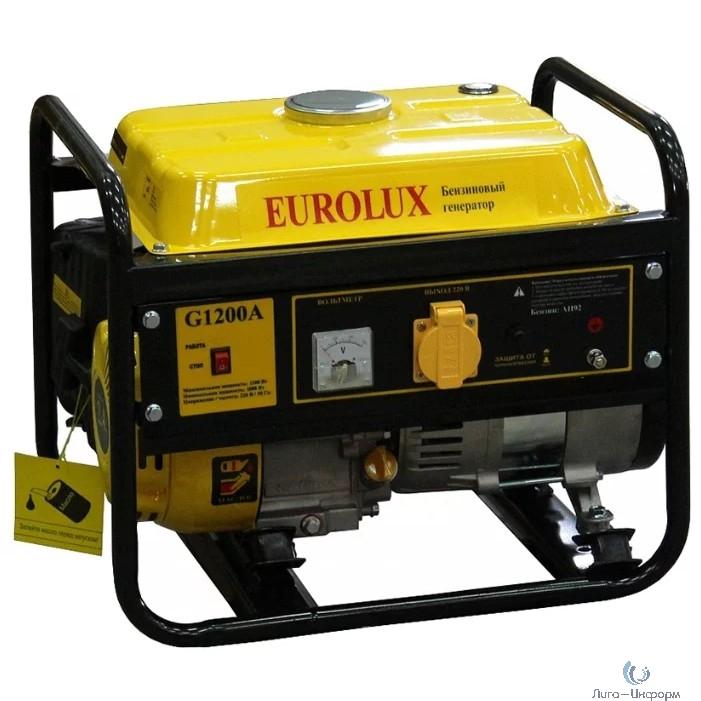 Eurolux G1200A [64/1/35] Электрогенератор { 1000ВТ, Мах-1100Вт, стартер ручной }