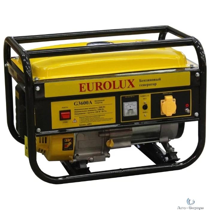 Eurolux G3600A [64/1/37] Электрогенератор { 2500ВТ, Мах-2800Вт, стартер ручной }