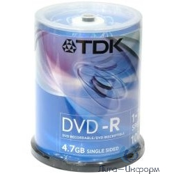 75000026056/DVD-R47CBED25/75000026064/t19416 Диски DVD-R TDK, 4.7Gb 16х, 25шт, Cake Box