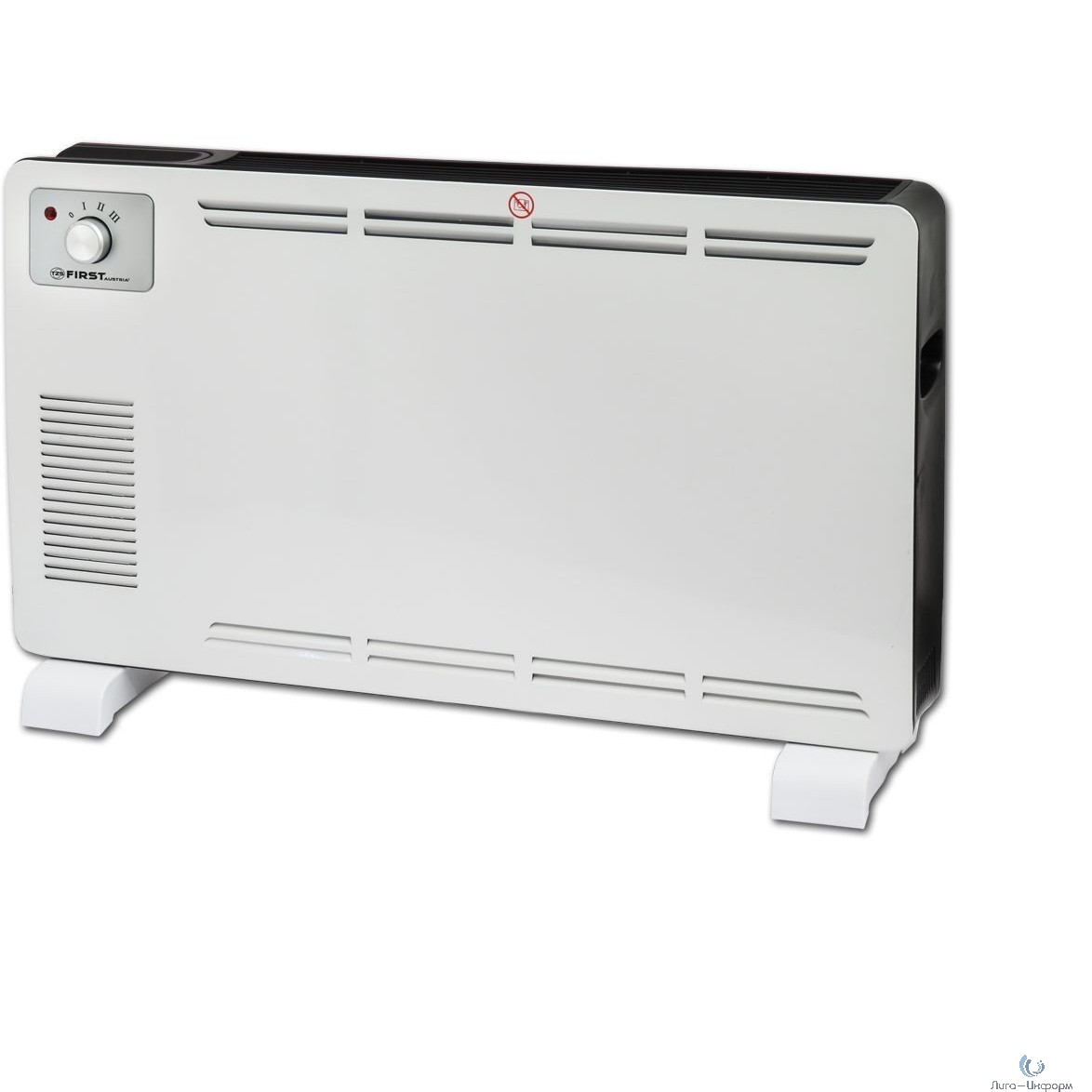 FIRST (FA-5570-2 White) Тепловентилятор конвекторный, 750 Вт/1250 Вт/2000 Вт, 25 м?, термостат, белый