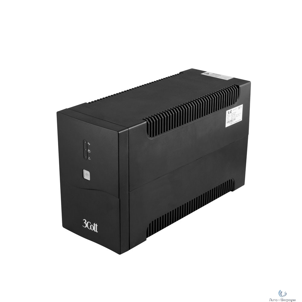3Cott ИБП Home Line 3Cott-2200-HML 2200VA/1320W AVR,RJ11,RJ45 (4 Euro+2 IEC) {0502237}