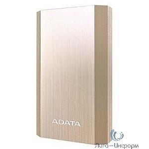 A-Data Внешний аккумулятор 10050 мА-ч, 2 USB, 3*18650, 2.1A, металлический корпус, цвет золото (AA10050-5V-CGD)