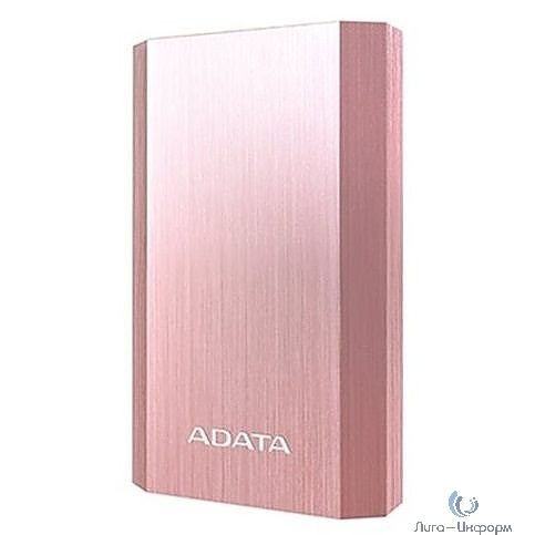 A-Data Внешний аккумулятор 10050 мА-ч, 2 USB, 3*18650, 2.1A, металлический корпус, цвет розовое золото (AA10050-5V-CRG)