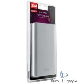 3Cott Внешний аккумулятор 3C-PB-100QC, QC3.0, 10000 мАч, вх.: micro USB 5В2А, Type-C 5В2А, вых: USB: 5В2.1А, Type-C: 5/9/12В2А,  QC3.0 5-12В2.4А (0500673)