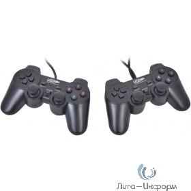 3Cott GP-02 черный USB [3Cott-GP-02B] {Геймпад Двойной, 12 кнопок, вибрация}