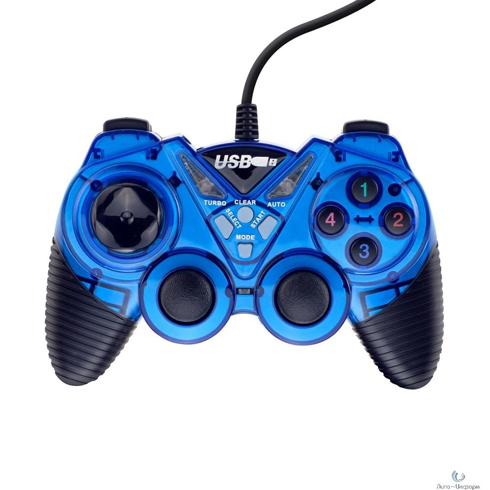 3Cott Single GP-05 синий USB [3Cott-GP-05BL] {Геймпад,14 кнопок, вибрация}