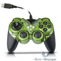 3Cott Single GP-05 зеленый USB [3Cott-GP-05GR] {Геймпад, 14 кнопок, 2 вибро мотора}