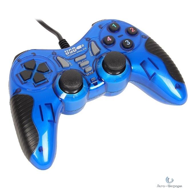 3Cott Single GP-06 синий USB {Геймпад,14 кнопок, вибрация}