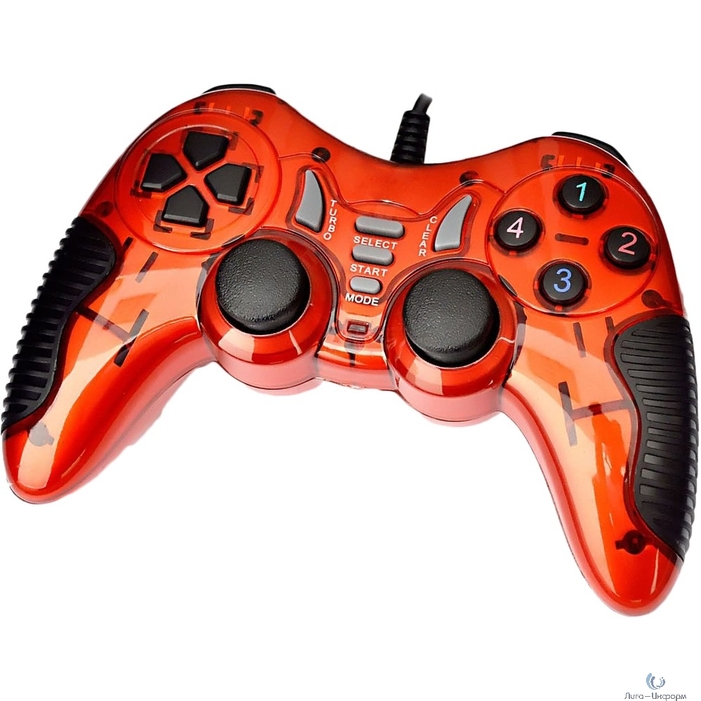 3Cott Single GP-06 красный USB [3Cott-GP-06R] {Геймпад, 14 кнопок, вибрация}