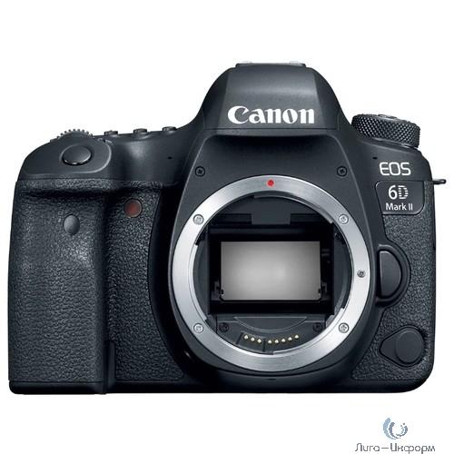 """Canon EOS 6D Mark II черный 26.2Mpix 3"""" 1080p Full HD SDXC Li-ion (без объектива)"""