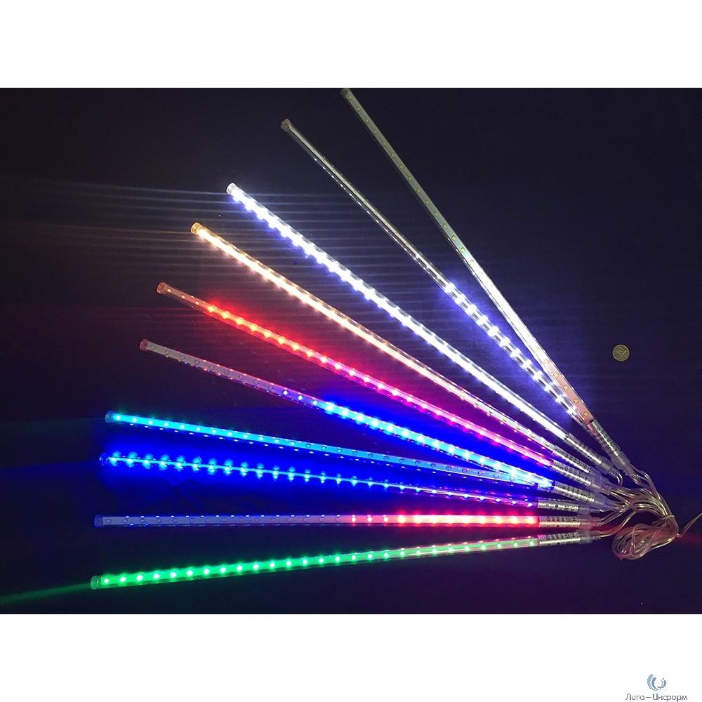 Espada Светодиодная (LED) Гирлянда декоративная - сосульки, бегущий огонек, многоцветная, 8W,IP65 (E-MST54FC50cm) (43205)