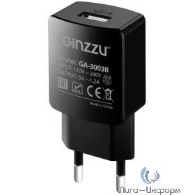 GINZZU GA-3003B, СЗУ 5В/1200mA, USB, черный