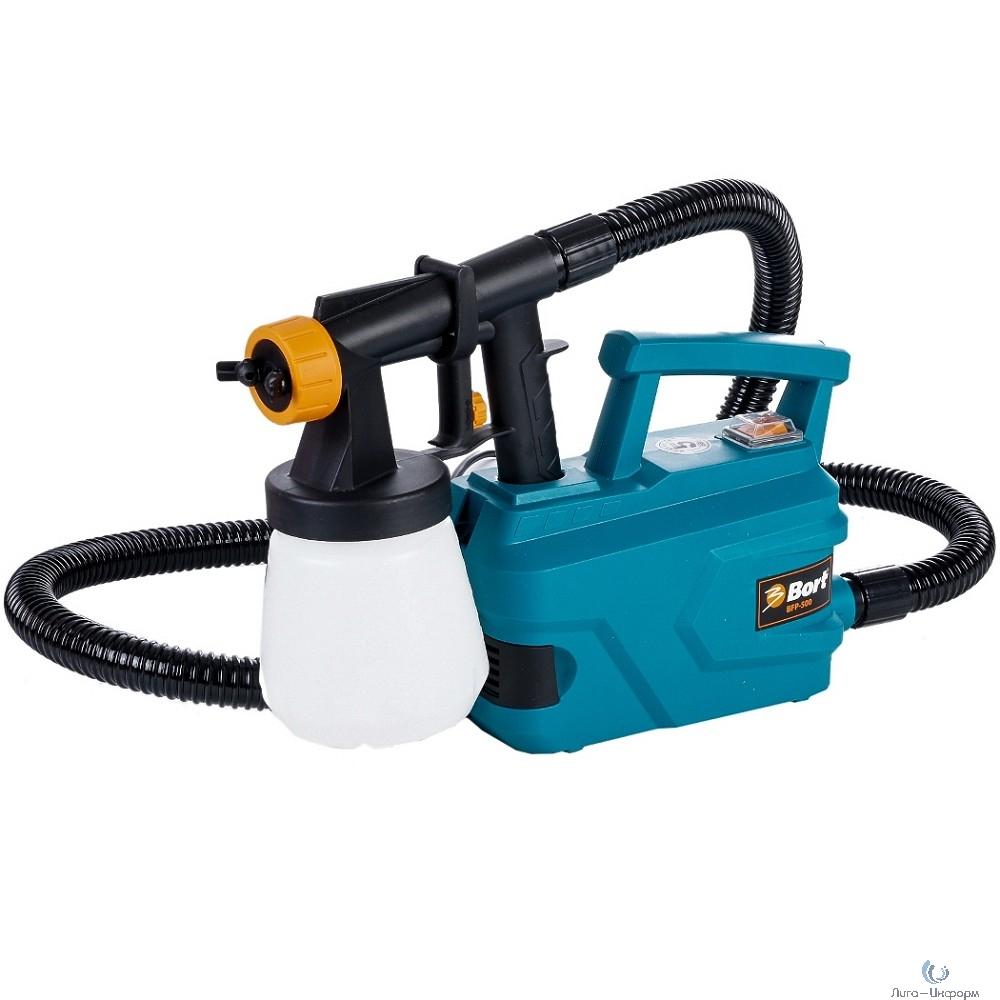 Bort BFP-500 Распылитель электрический [98291032] { 500 Вт, 0,7 л/мин, емкость 700 мл, 2.4 кг, набор аксессуаров 5 шт }