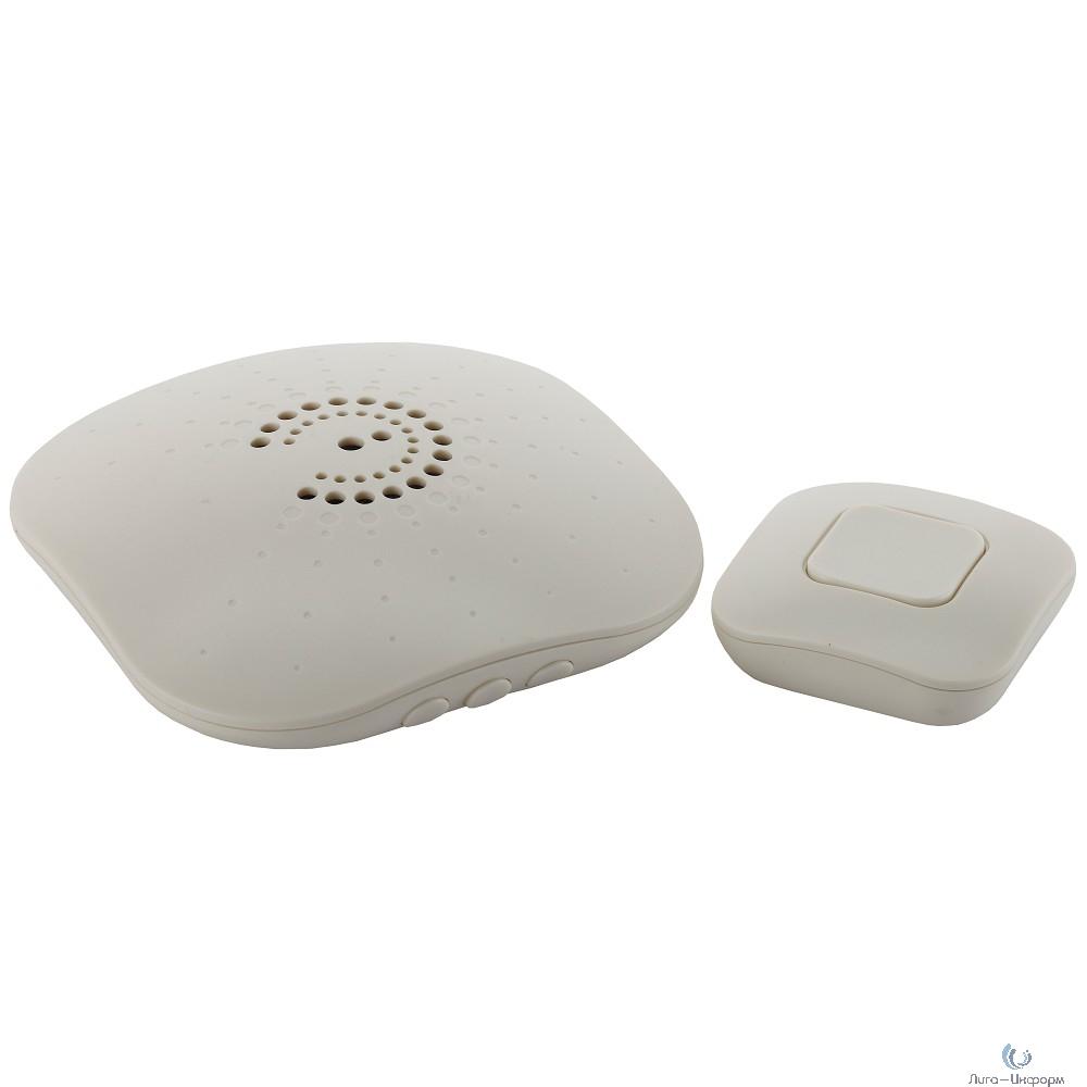 ЭРА Б0018090 Звонок беспроводной BIONIC Ivory {6 мелодий, регулятор громкости, радиус 100м, кнопка IP44}
