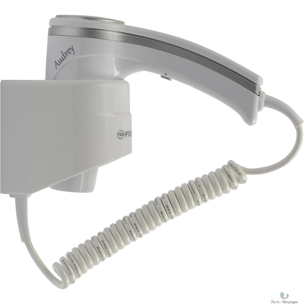 FIRST FA-5655-1 Фен, 1200 Вт, шнур 2 м, крепл.на стене, 1 скор, 2 темп., холод, White