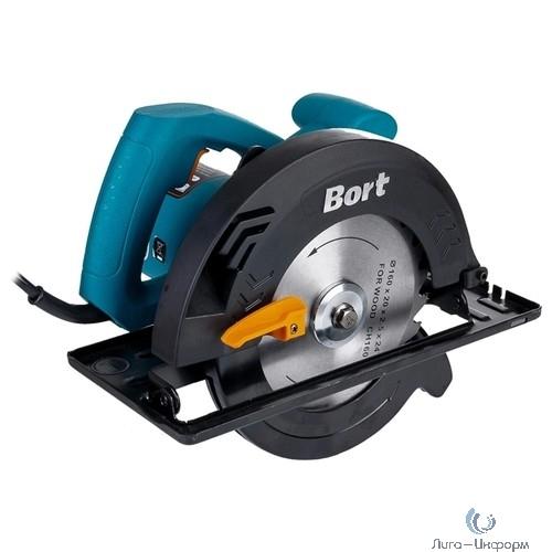 Bort BHK-185U Пила циркулярная [BHK-185U] { 1250 Вт, 5600 об/мин, 185 мм, 20мм, 4.1 кг, набор аксессуаров 5 шт }