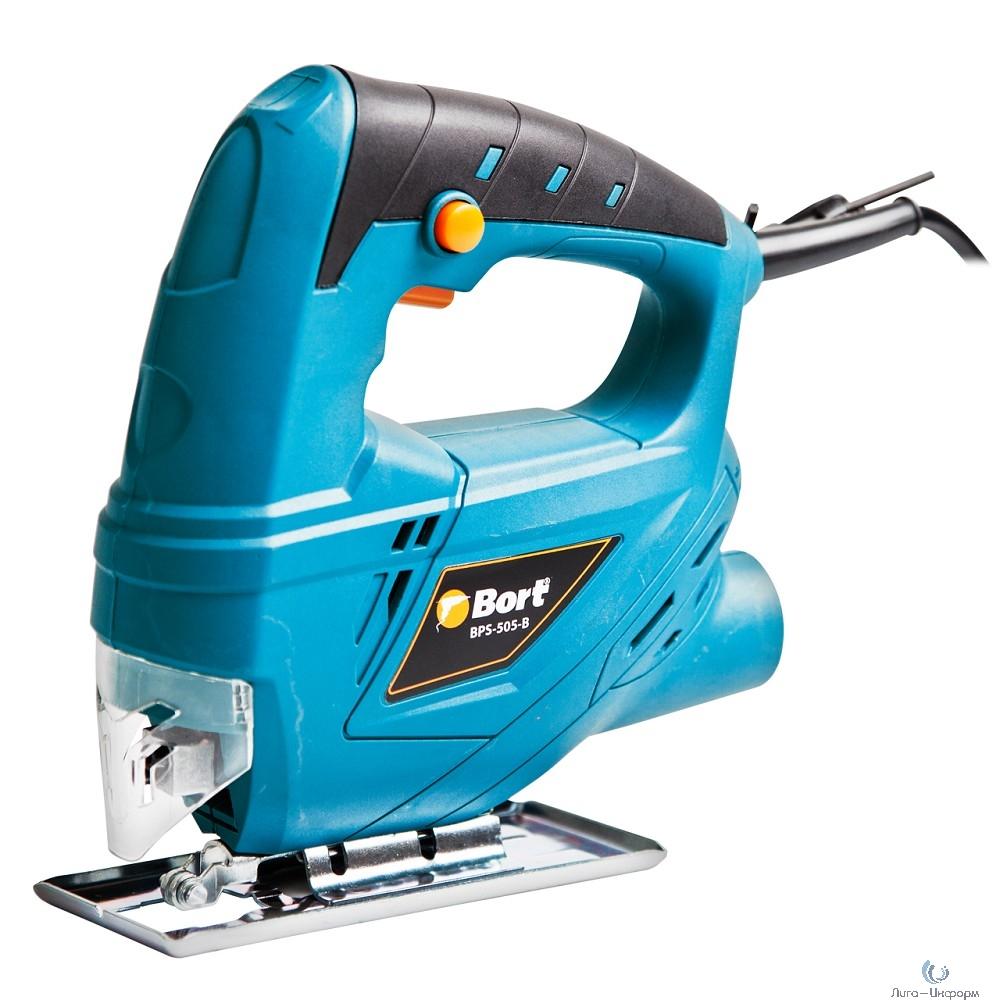 Bort BPS-505-P Лобзик электрический [91271075] { 350 Вт, 3000 об/мин, 1.5 кг, ключ шестигранный, пилка }