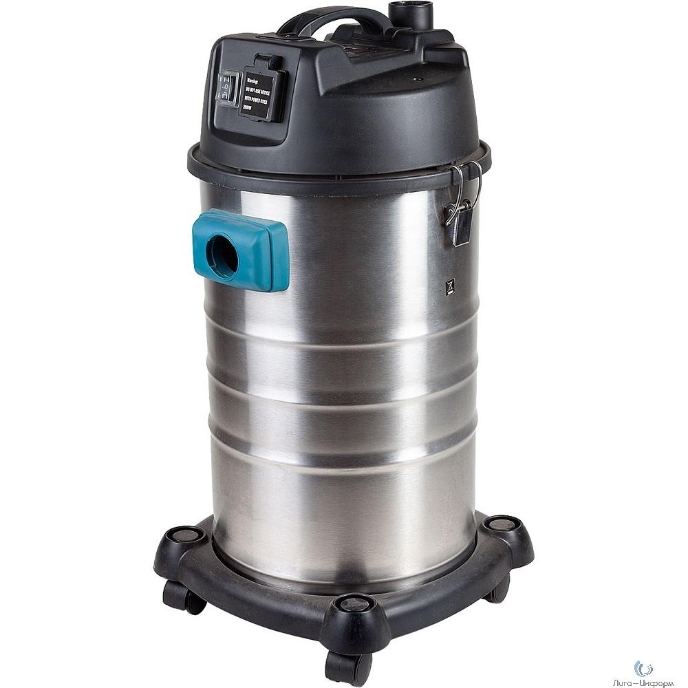 Bort BSS-1230 Пылесос строительный [98291070] { 1200 Вт, вместимость 30 л, 33 л/сек, 6,5 кг, набор аксессуаров 8 шт }