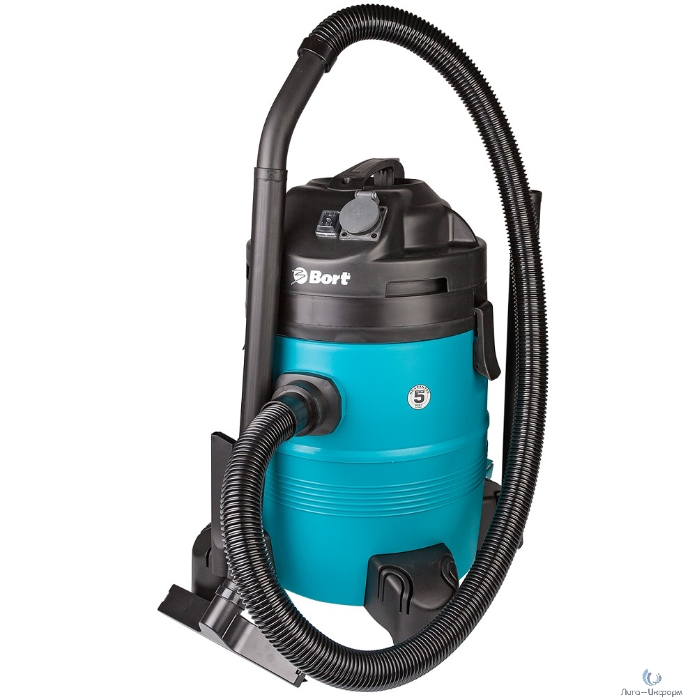 Bort BSS-1335-Pro Пылесос строительный [98297072] { 1400 Вт, вместимость 35 л, 58 л/сек, 8,3 кг, набор аксессуаров 11 шт }