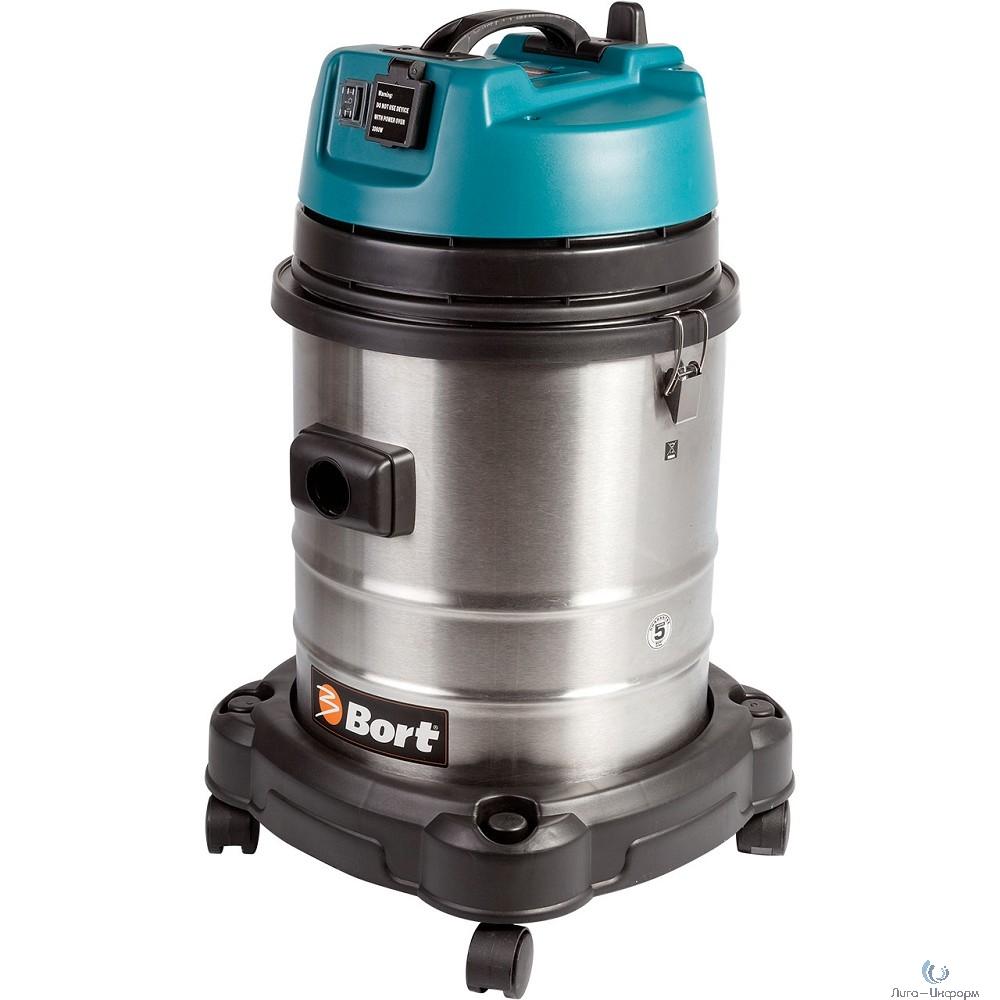 Bort BSS-1440-Pro Пылесос строительный [98297089] { 1400 Вт, вместимость 40 л, 38 л/сек, 10 кг, набор аксессуаров 10 шт }