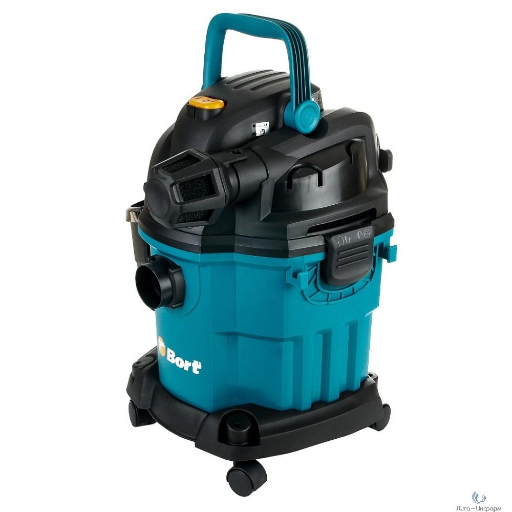 Bort BSS-1518-Pro Пылесос строительный [98291810] { 1500 Вт, вместимость 18 л, 2400 л/мин, 7,7 кг, набор аксессуаров 11 шт }