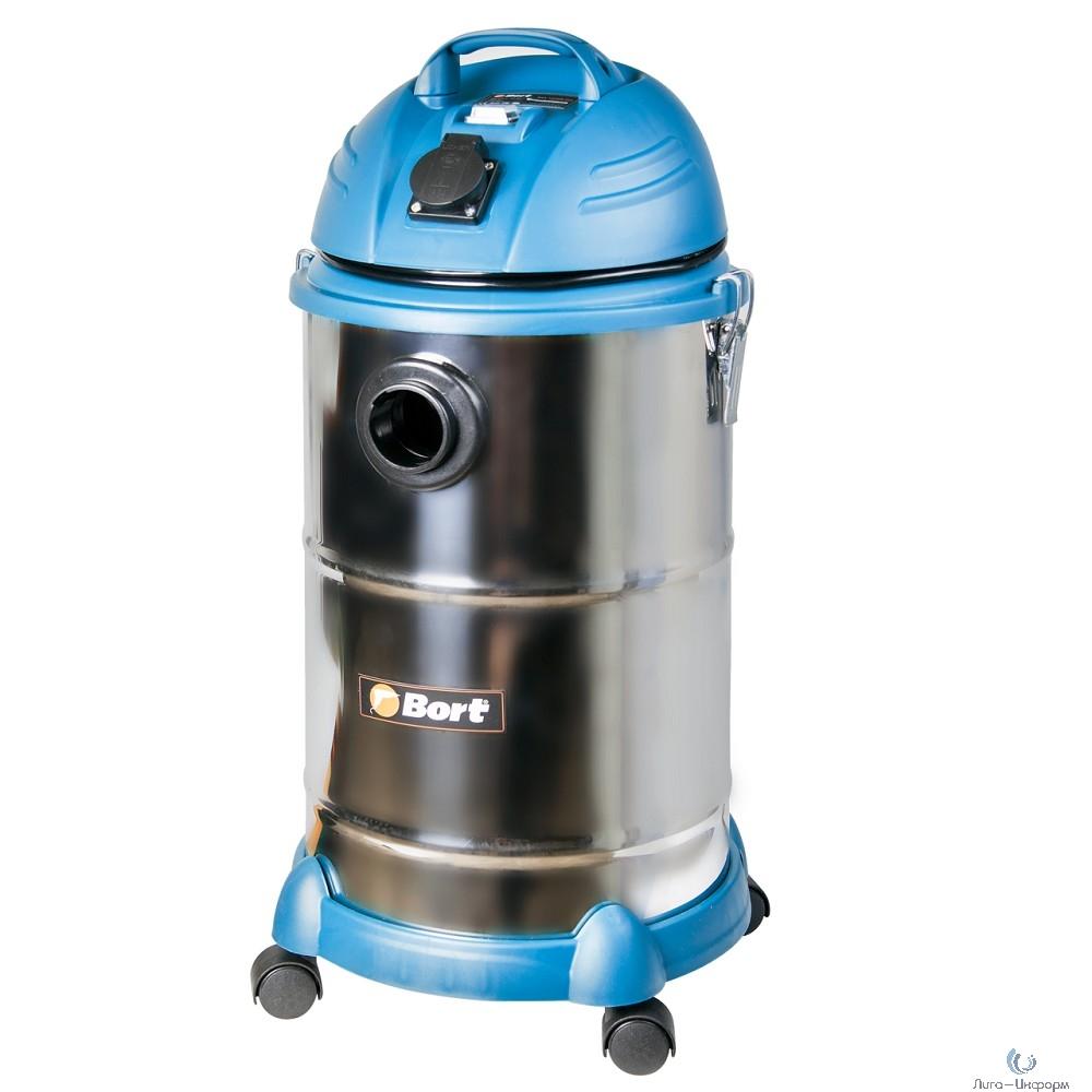 Bort BSS-1530N-Pro Пылесос строительный [91271242] { 1400 Вт, вместимость 30 л, 38 л/сек, 5,6 кг, набор аксессуаров 10 шт }