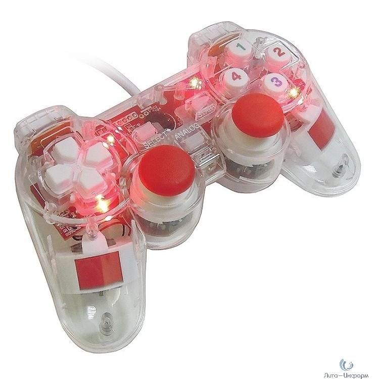 3Cott Single GP-01 прозрачный корпус USB [3Cott-GP-01T] {Геймпад, 12 кнопок, вибрация}