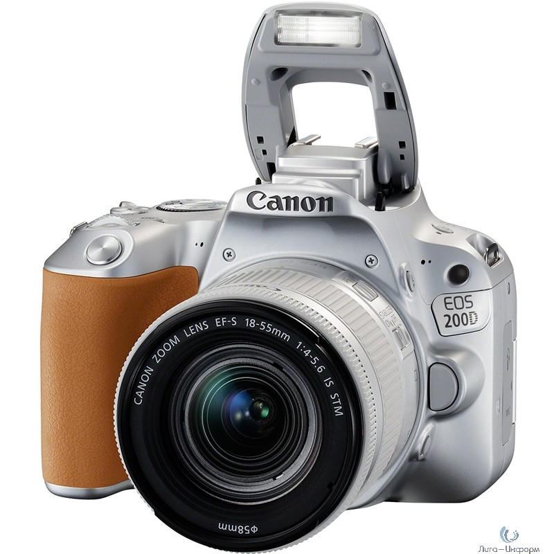 "Canon EOS 200D серебристый {24.2Mpix EF-S 18-55mm f/3.5-5.6 IS STM 3"" 1080p Full HD SDXC Li-ion}"